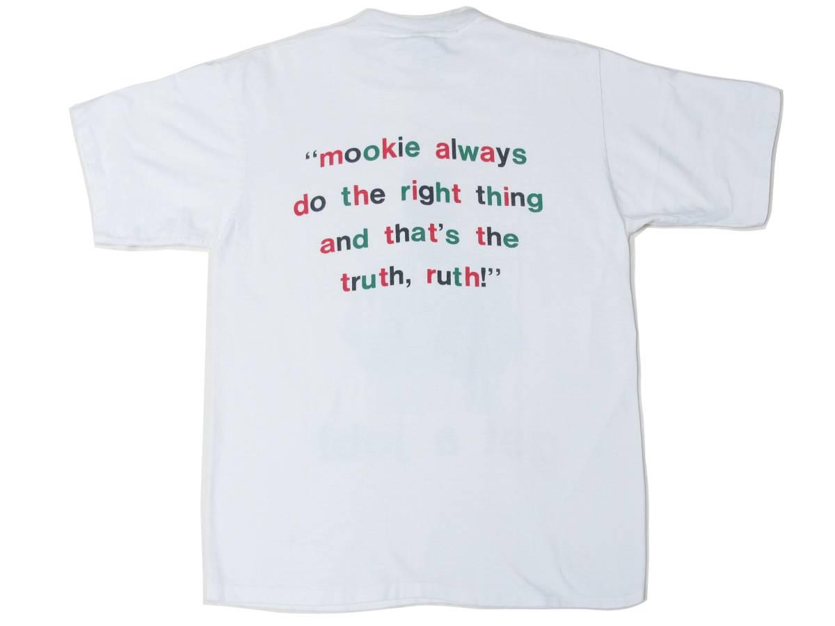 超レア! 90's USA製 SPIKE LEE 40 ACRES AND A MULE 『DO THE RIGHT THING』 Tシャツ MALCOLM X DE LA SOUL BEASTIE BOYS RUN DMC RAPTEE_画像2