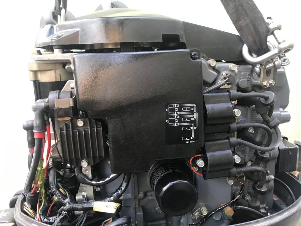 船外機 YAMAHA ヤマハ 50馬力 4ストローク 2005年7月製造 L足 動作確認済み  中古品_画像5