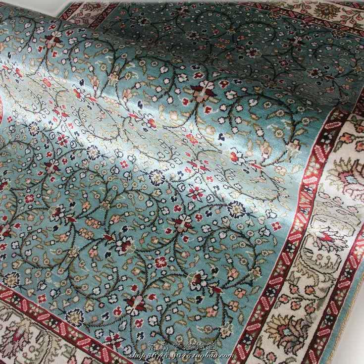 展示品超極美豪華天然☆シルク100% ペルシャ絨毯☆入ペルシャ絨毯☆ウール高密度300万縫い針世界の名品☆180*270cm_画像4