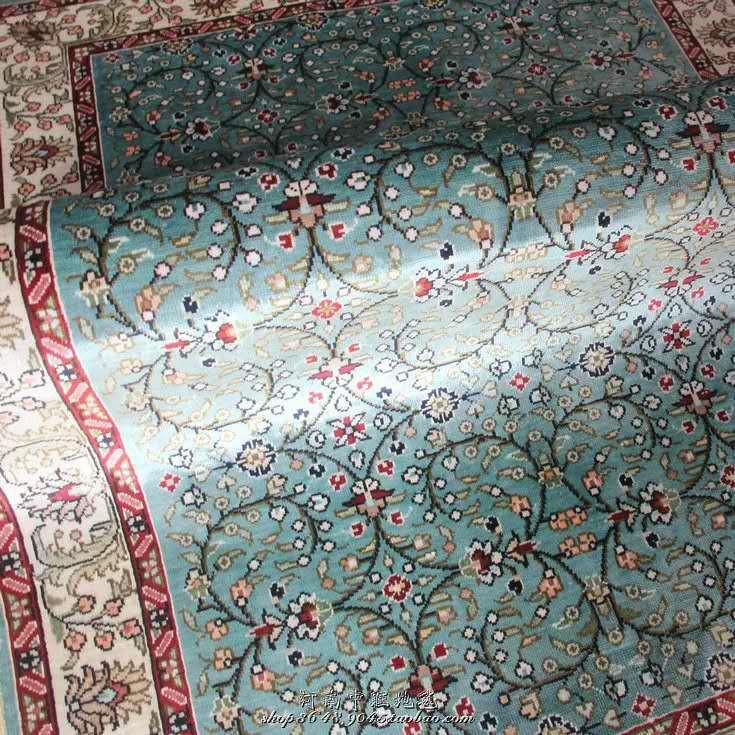 展示品超極美豪華天然☆シルク100% ペルシャ絨毯☆入ペルシャ絨毯☆ウール高密度300万縫い針世界の名品☆180*270cm_画像5