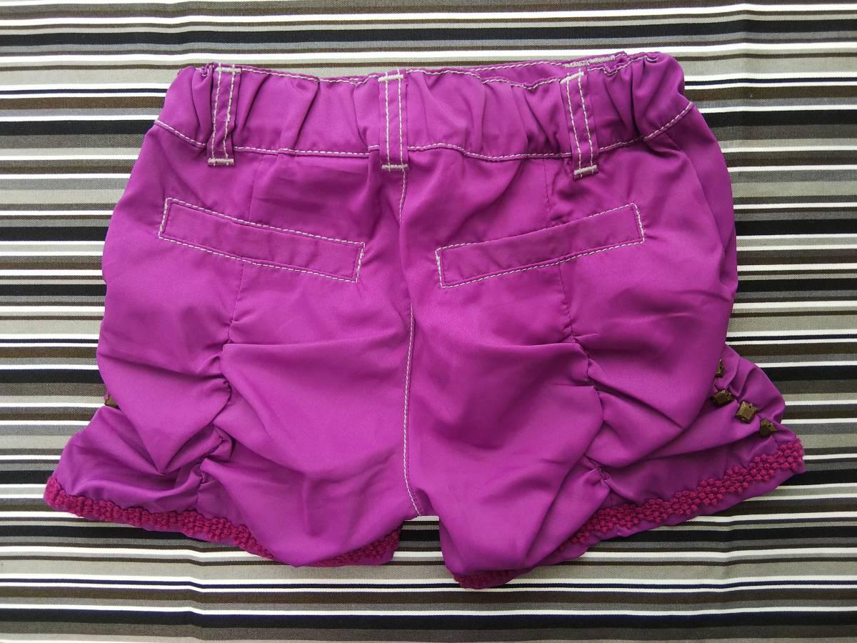 ★新品★アナスイミニ ショートパンツ 紫 100㎝_画像3
