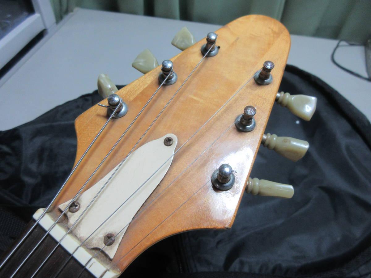 【8】 エレキギターGuyatine 布ケース付き ジャンク品 №倉11.ゆ170 _画像3