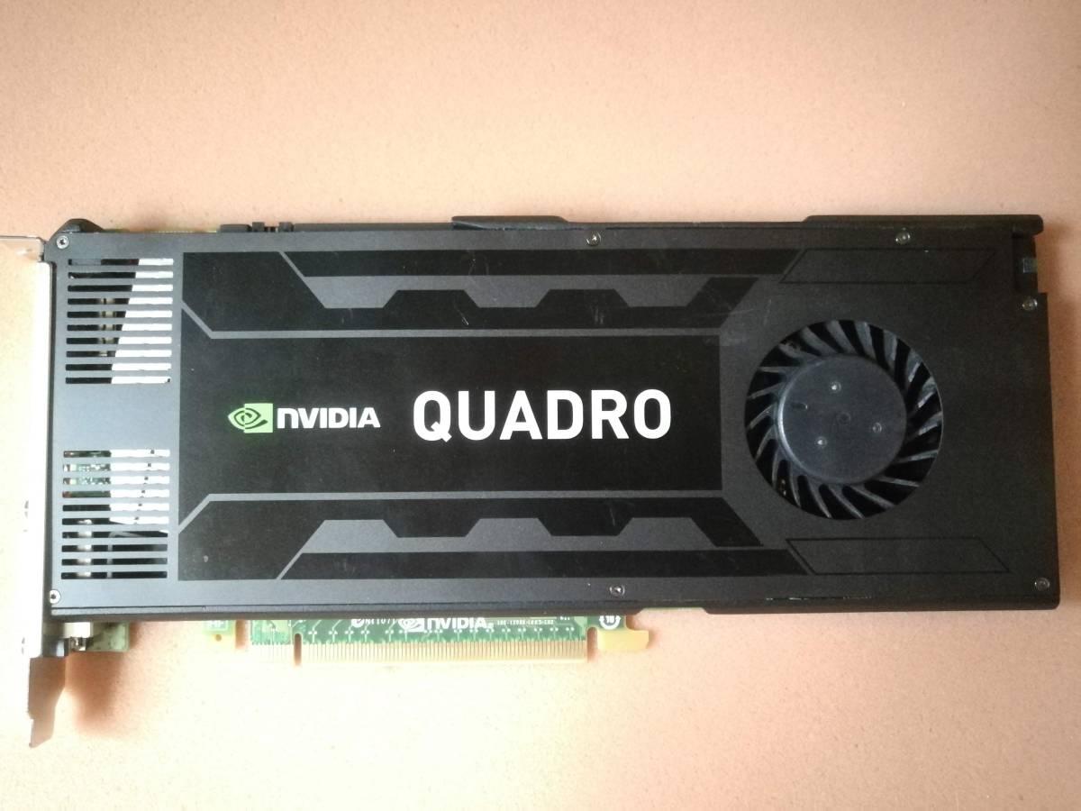 ★動作保証★【完全動作超美品】NVIDIA Quadro k4000 GDDR5 3072MB(3GB)⑥