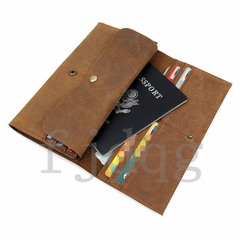 メンズ 二つ折り メンズ長財布 レザー 牛革 ロング財布 薄い 軽量 札入れ カード入れ 紳士用 ボタン付きA060-A_画像5