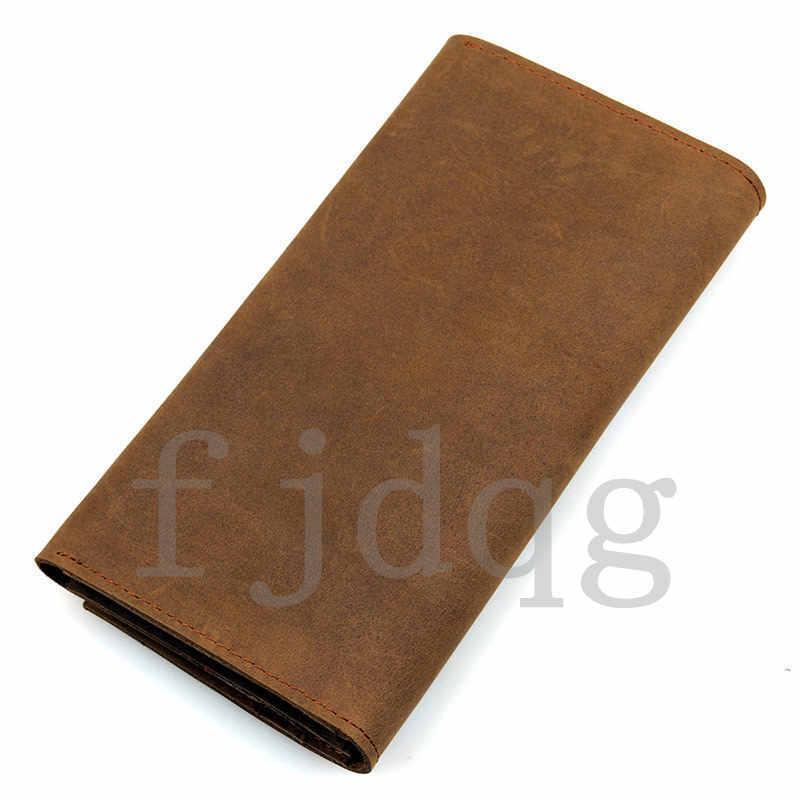 メンズ 二つ折り メンズ長財布 レザー 牛革 ロング財布 薄い 軽量 札入れ カード入れ 紳士用 ボタン付きA060-A_画像10