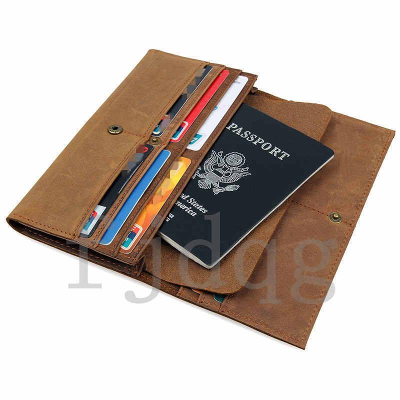 メンズ 二つ折り メンズ長財布 レザー 牛革 ロング財布 薄い 軽量 札入れ カード入れ 紳士用 ボタン付きA060-A_画像8