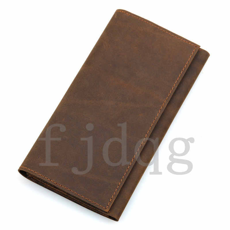 メンズ 二つ折り メンズ長財布 レザー 牛革 ロング財布 薄い 軽量 札入れ カード入れ 紳士用 ボタン付きA060-B