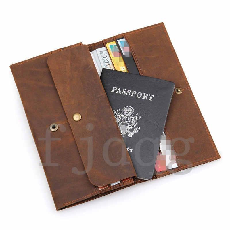 メンズ 二つ折り メンズ長財布 レザー 牛革 ロング財布 薄い 軽量 札入れ カード入れ 紳士用 ボタン付きA060-B_画像10