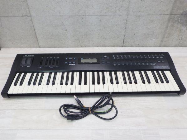 ◇動作保証 ALESIS アレシス シンセサイザー QS6.1 電源コード付き 鍵盤楽器 /mY-38484