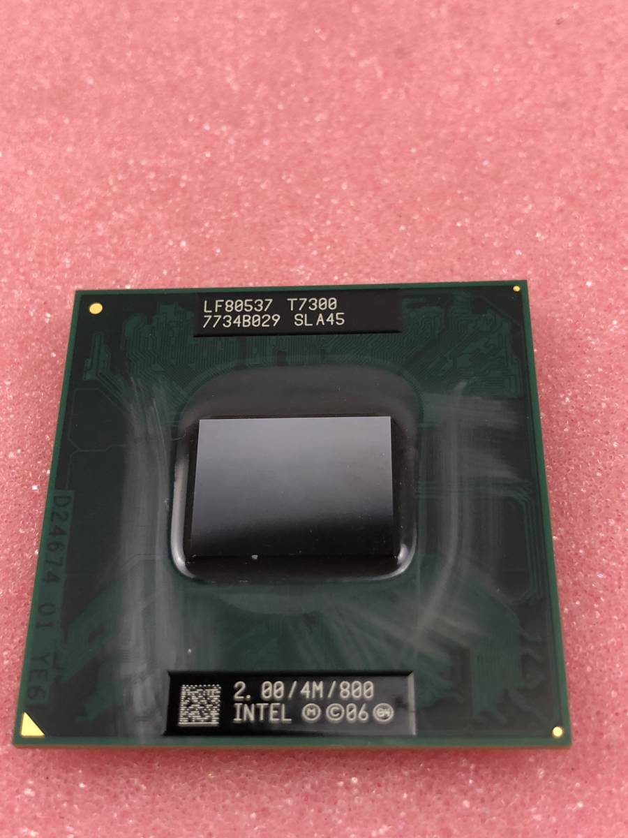 【中古パーツ】【CPU】INTEL Core2 Duo T7300 2.0GHz SLA45_画像2