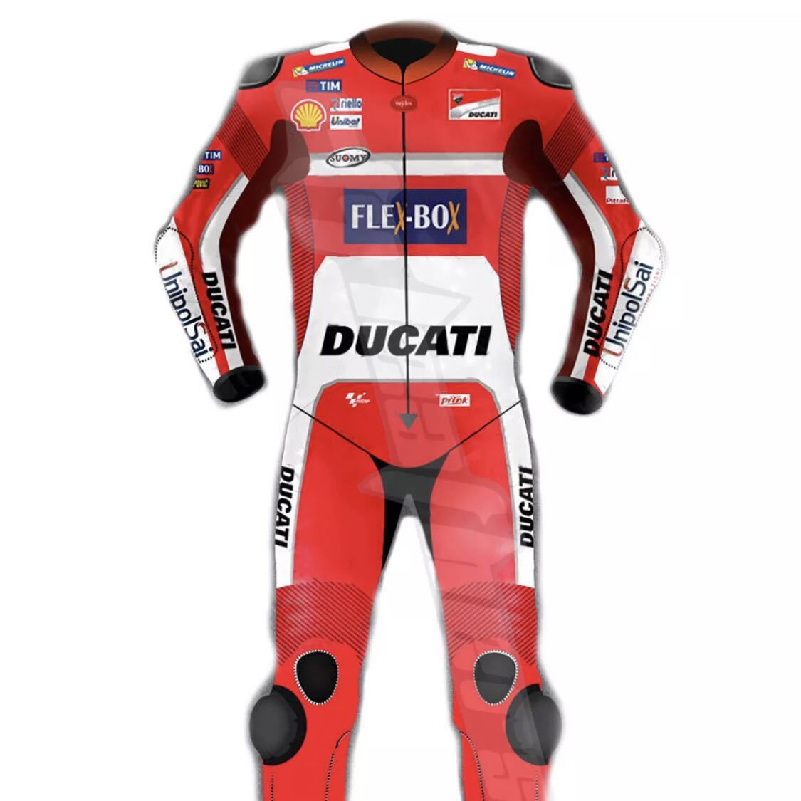 ドゥカティ DUACTI レーシングスーツ 革ツナギ ワンピース レザースーツ 各サイズ_画像1