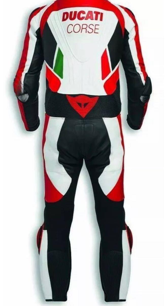 ドゥカティ DUACTI レーシングスーツ 革ツナギ ワンピース レザースーツ 各サイズ CORSE_画像2