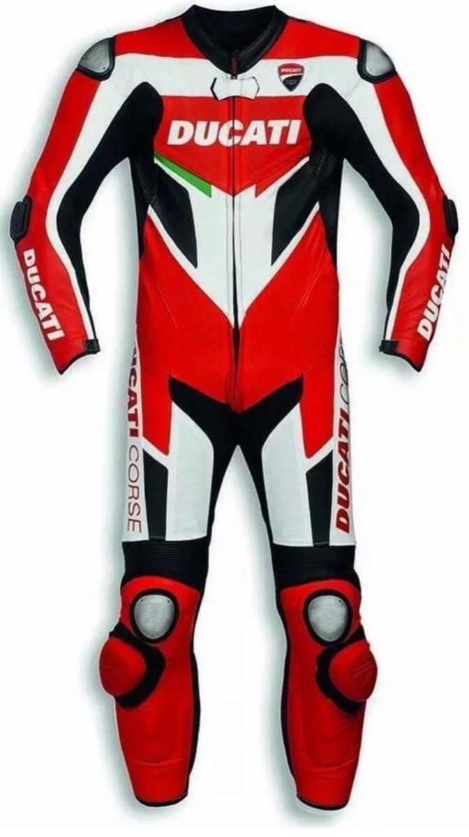 ドゥカティ DUACTI レーシングスーツ 革ツナギ ワンピース レザースーツ 各サイズ CORSE_画像1