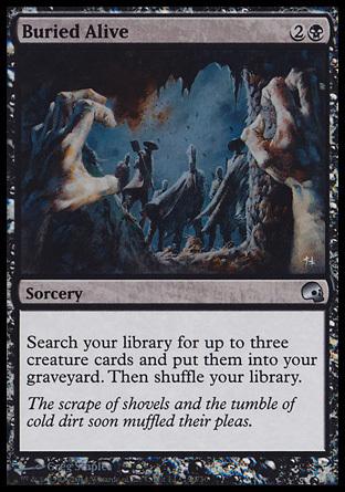 え黒Foil 生き埋め 1枚(4枚在庫s 英 良品 GRB)/Buried Alive(MTG /PD3/Premium Deck Series: Graveborn/)_画像1