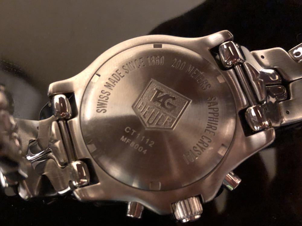 TAG HEUER タグホイヤー/クオーツ/メンズ腕時計/クロノグラフ/文字盤シルバー/CT1112/中古_画像2
