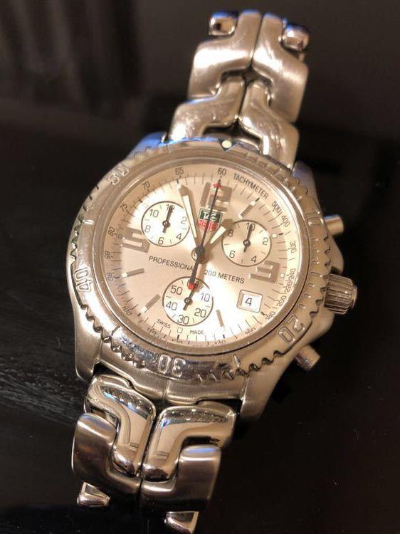 TAG HEUER タグホイヤー/クオーツ/メンズ腕時計/クロノグラフ/文字盤シルバー/CT1112/中古