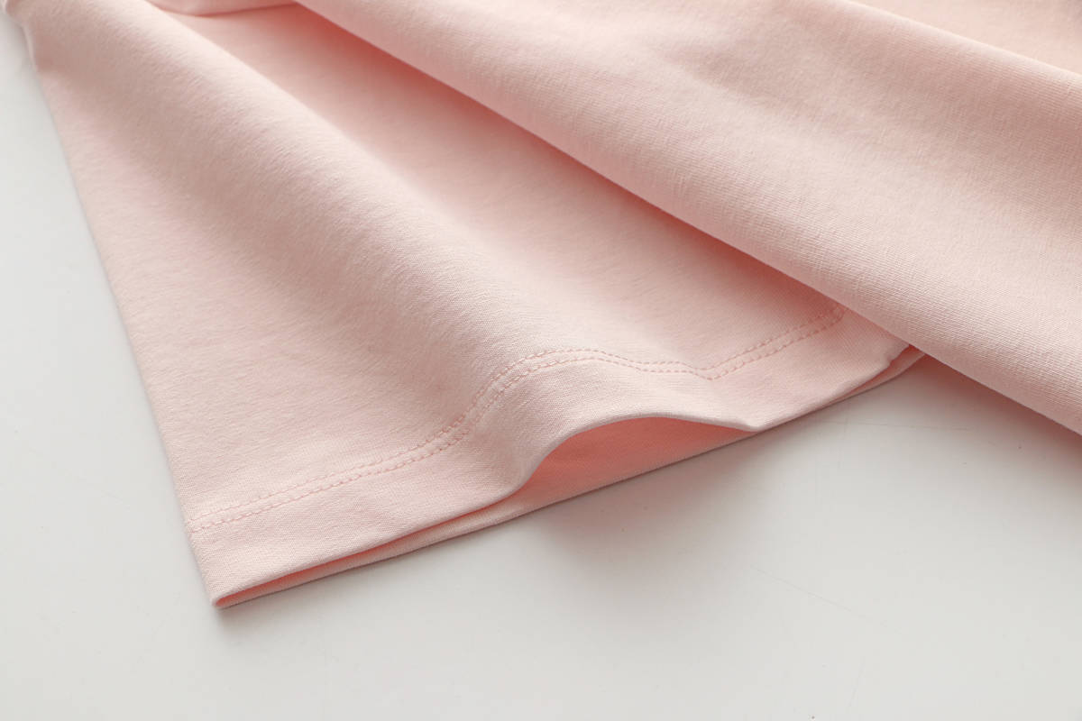 純色Tシャツゆるい丸首短め綿半袖_画像5