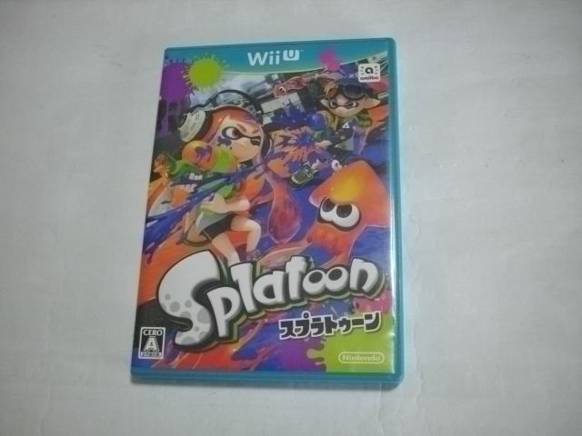 ゲームソフト Wii U 専用ソフト 「Splatoonスプラトゥーン」中古品 動作確認済み