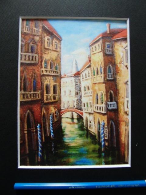 長田 まさと 【ヴェネチア追想】、希少画集画、状態良好、新品高級額装付、送料無料、洋画 油彩 風景、zer_画像2