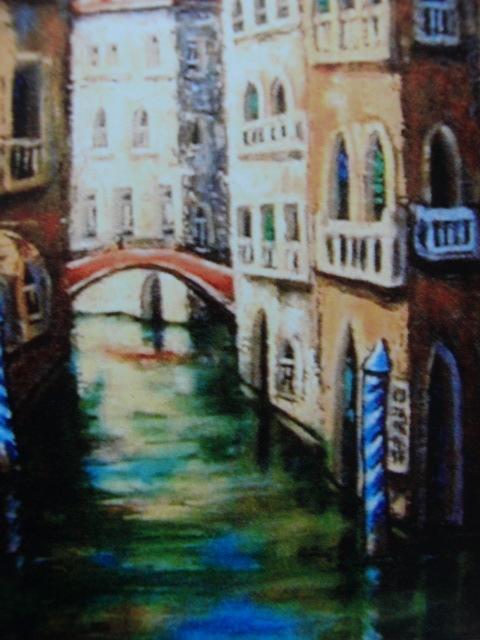 長田 まさと 【ヴェネチア追想】、希少画集画、状態良好、新品高級額装付、送料無料、洋画 油彩 風景、zer_画像3