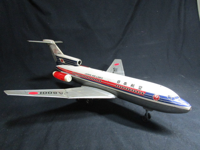 昭和レトロ 野村トーイ製 ブリキ 日本航空 B727