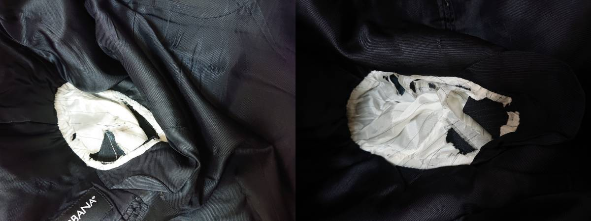 <DOLCE&GABBANA GOLD ドルガバ >ピンストライプスーツ 2B スラックス パンツ_画像6