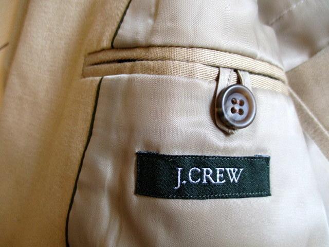 超美「J.CREW レナウン」日本製 麻綿混 春夏もの ジャケット 42R(L位)_画像6