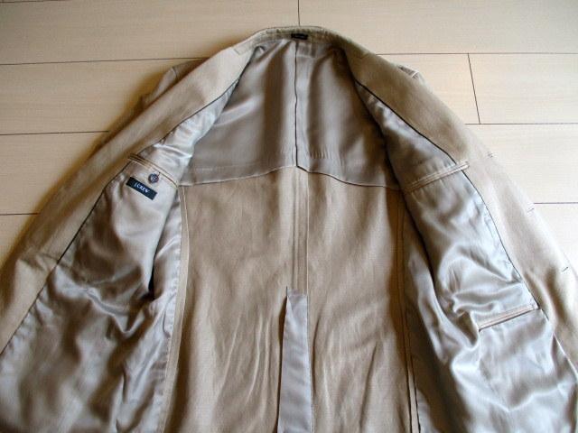 超美「J.CREW レナウン」日本製 麻綿混 春夏もの ジャケット 42R(L位)_画像7
