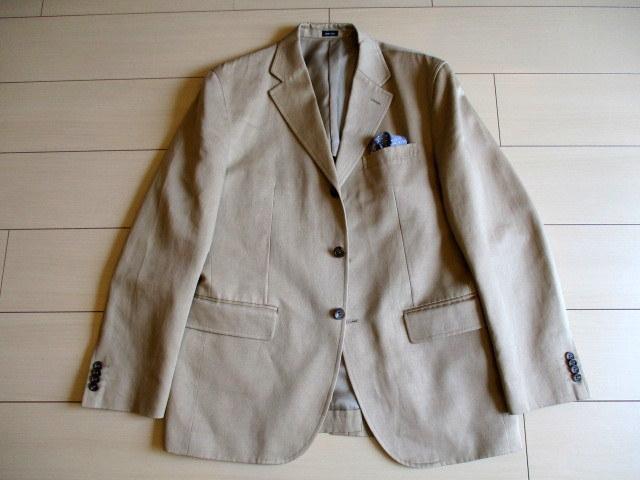 超美「J.CREW レナウン」日本製 麻綿混 春夏もの ジャケット 42R(L位)_画像8