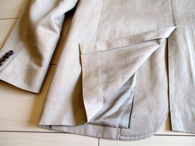 超美「J.CREW レナウン」日本製 麻綿混 春夏もの ジャケット 42R(L位)_画像10