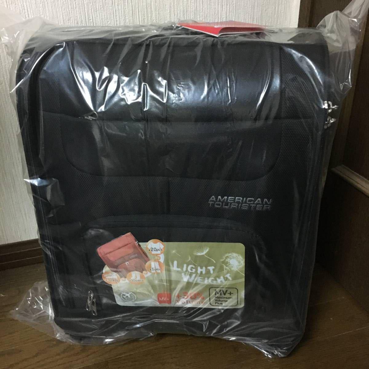 新品 未使用 サムソナイト アメリカンツーリスター MVプラス 機内持ち込み可 ソフトキャリー スーツケース ブラック Samsonite