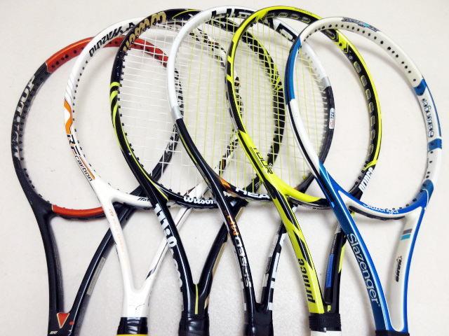 【送料込み】硬式テニスラケット6本セットNO3 中古品