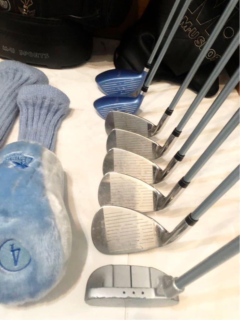 送料無料 レディースゴルフクラブ セット ブリジストン パラディーゾ バッグ ウエサコ キャスター付優しい設計 初心者~中級者_画像10
