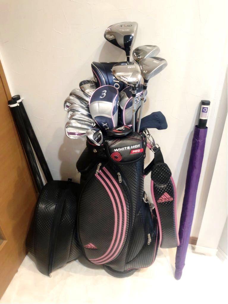高級 超豪華 美品 3~4回のみ使用 レディースゴルフクラブ 本格フルセット ブリジストン ファイズ ゼクシオ 優しい 初心者~上級者_画像2