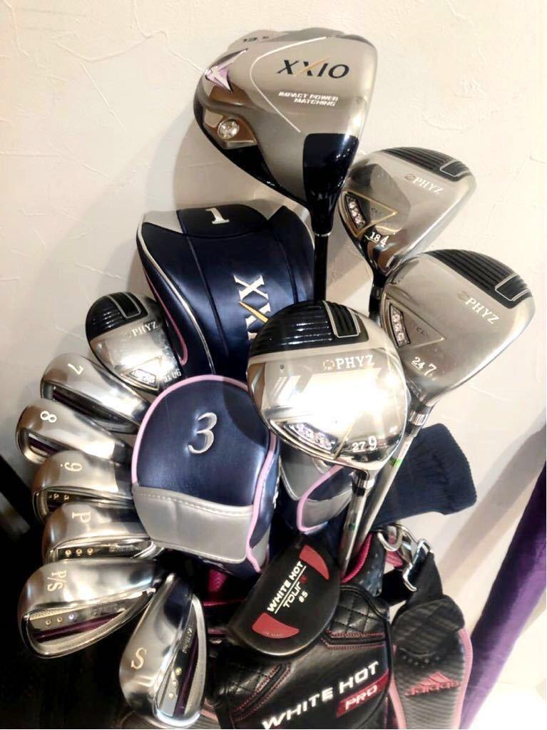 高級 超豪華 美品 3~4回のみ使用 レディースゴルフクラブ 本格フルセット ブリジストン ファイズ ゼクシオ 優しい 初心者~上級者