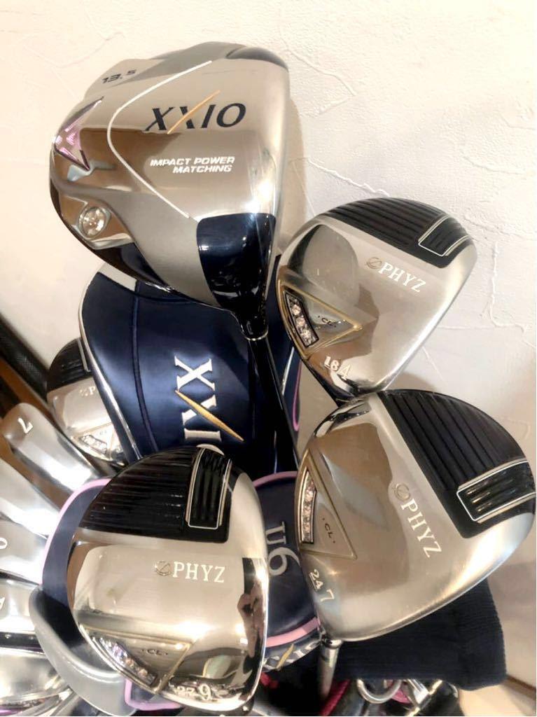 高級 超豪華 美品 3~4回のみ使用 レディースゴルフクラブ 本格フルセット ブリジストン ファイズ ゼクシオ 優しい 初心者~上級者_画像3