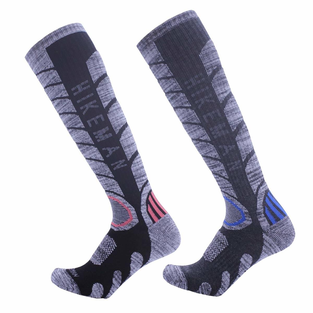 【新品未使用】【訳アリ】HIKEMAN(ハイク マン) サイズ24.5-28 メンズ トレッキングソックス 防寒ソックス 登山 スキー 男性 靴下 2足入り _画像1