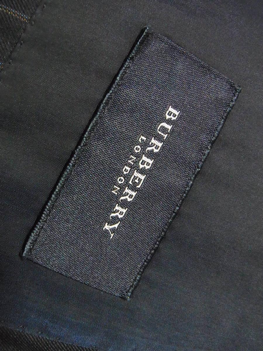 綺麗 正規品 BURBERRY LONDON バーバリーロンドン 英国製生地 ストライプシングルスーツ AB6 S1346_画像4