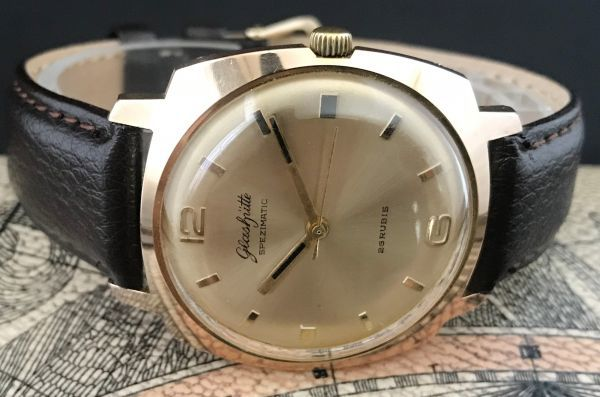極美品☆グラスヒュッテ☆アンティーク 自動巻き メンズ腕時計 Cal.75_画像6