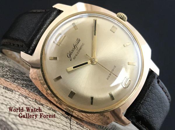極美品☆グラスヒュッテ☆アンティーク 自動巻き メンズ腕時計 Cal.75