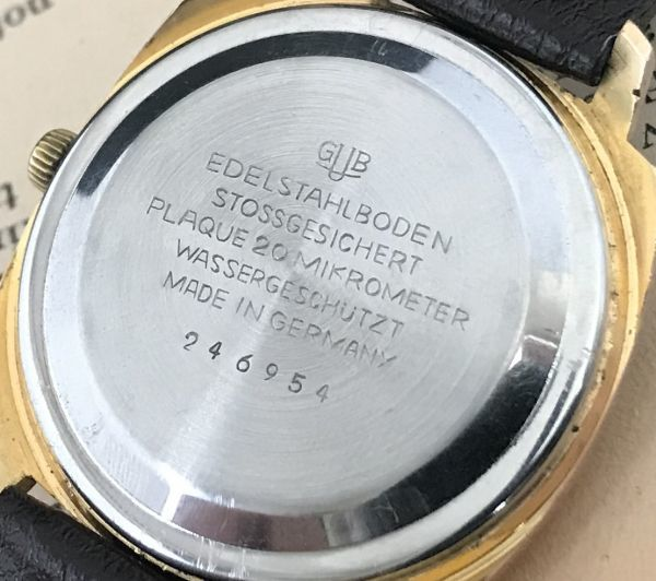 極美品☆グラスヒュッテ☆アンティーク 自動巻き メンズ腕時計 Cal.75_画像8