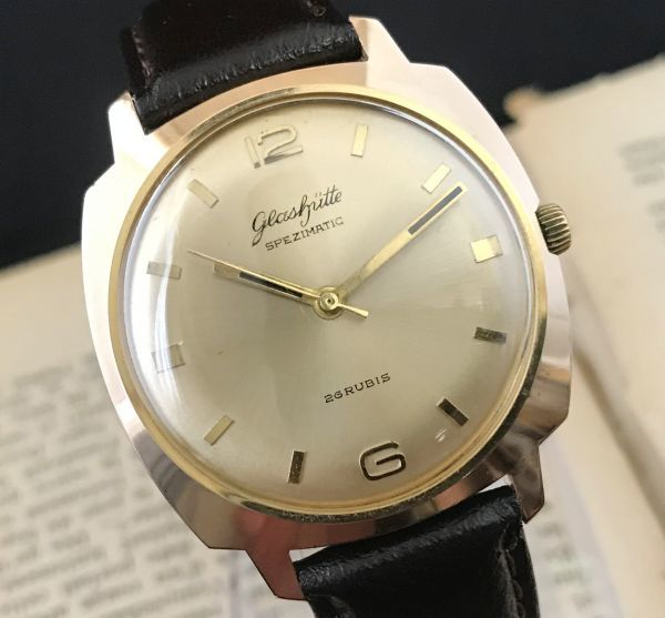 極美品☆グラスヒュッテ☆アンティーク 自動巻き メンズ腕時計 Cal.75_画像4