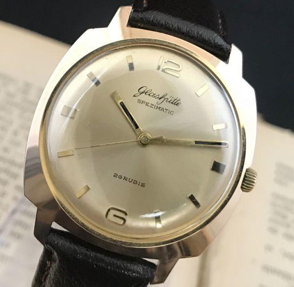 極美品☆グラスヒュッテ☆アンティーク 自動巻き メンズ腕時計 Cal.75_画像2