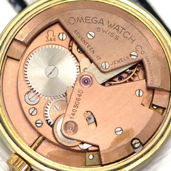 【オメガ☆Cal.344☆スモールセコンド】ヴィンテージ アンティーク 14金張り バンパー式 自動巻き メンズ腕時計【新品仕上げ☆動作保証】_画像9