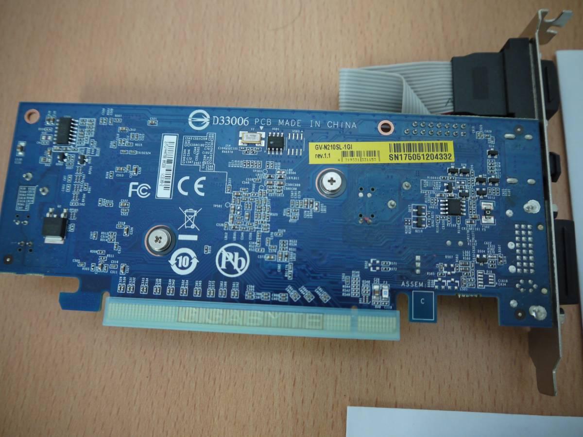 1日だけ使用 GIGABYTE ビデオカード GV-N201SL-1GI Rev.1.1_画像2