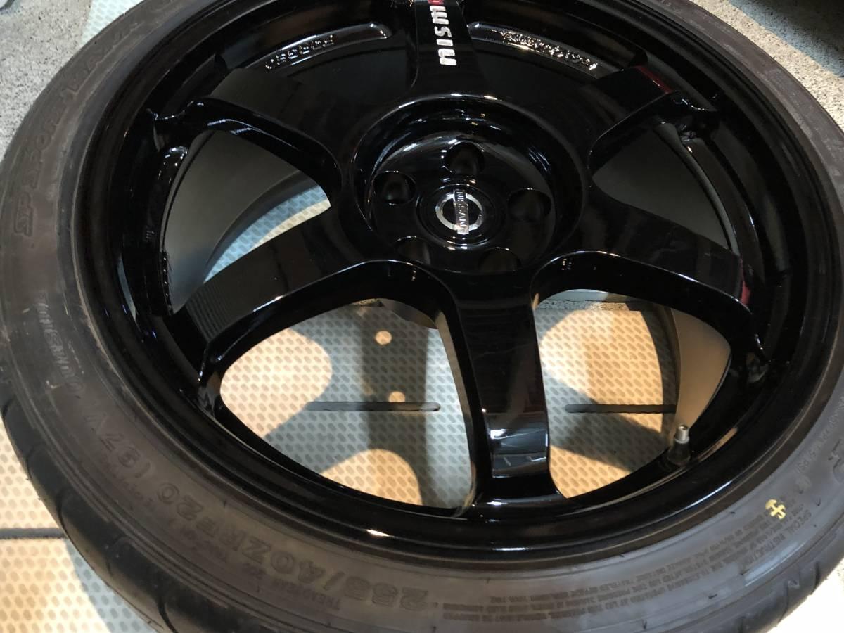 R35 GT-R NISMO ニスモ 純正 フロントホイール 極美品 未使用純正タイヤ付き_画像5