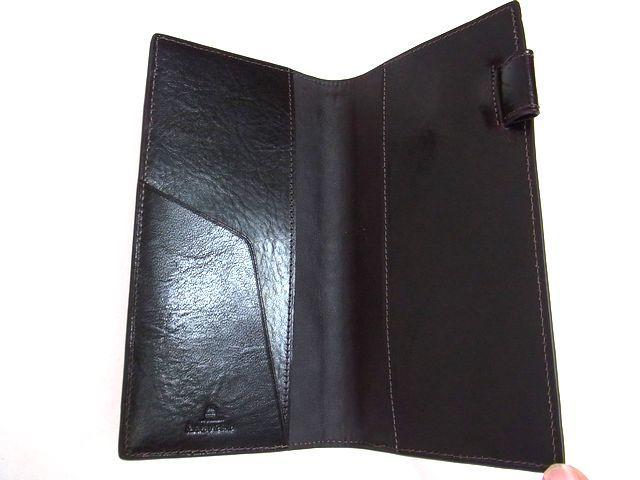 新品 ASHFORD アシュフォード ダークブラウン スカーフェイス 手帳カバー Dカバー Lサイズ 本革_画像3