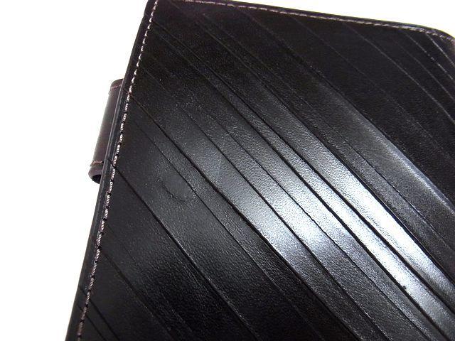 新品 ASHFORD アシュフォード ダークブラウン スカーフェイス 手帳カバー Dカバー Lサイズ 本革_画像5