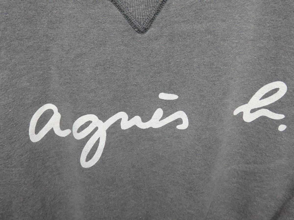 アニエスベーオム Agnes b homme ロゴ スウェット トレーナー_画像4