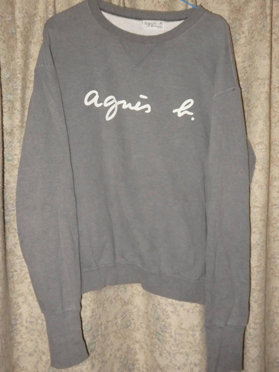 アニエスベーオム Agnes b homme ロゴ スウェット トレーナー_画像1